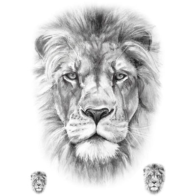 Realistic Lion Pack Temporary Tattoo Animal Fake Tattoos Artwear Tattoo Artwear Tattoo