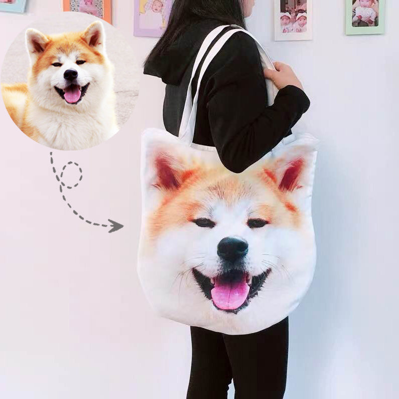 Custom Tote Bags Photo Dogs