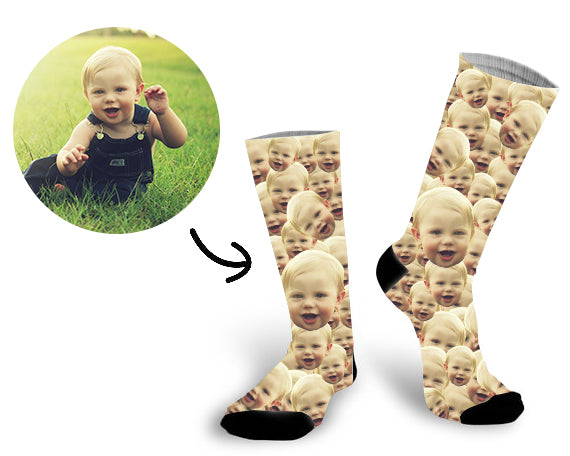Custom All Baby Face Socks Photo Socks - Make Custom Gifts