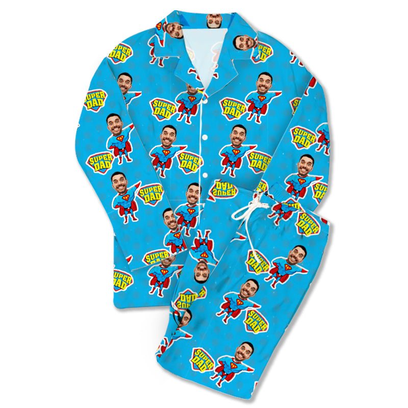 Custom Photo Pajamas Super Dad