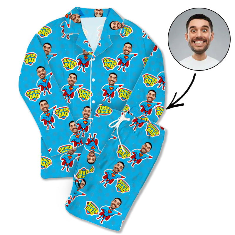 Custom Photo Pajamas Super Dad - Make Custom Gifts