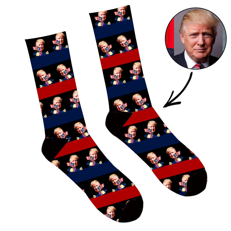Custom Stripe Face Socks