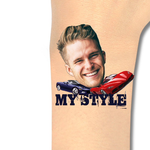 Custom Tattoos My Style Face Tattoos - Make Custom Gifts