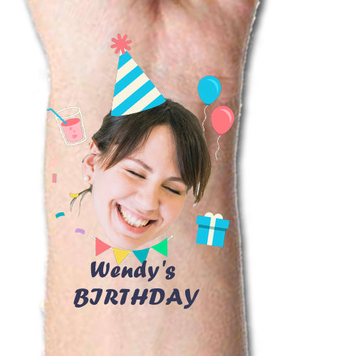 Custom Tattoos Your Birthday Face Tattoos - Make Custom Gifts
