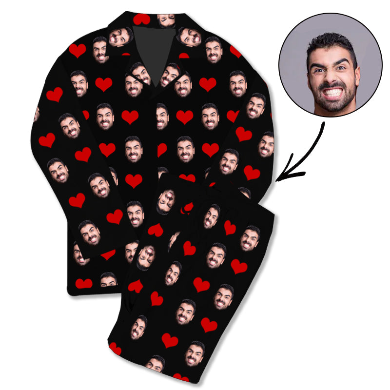 Custom Photo Pajamas Heart - Make Custom Gifts