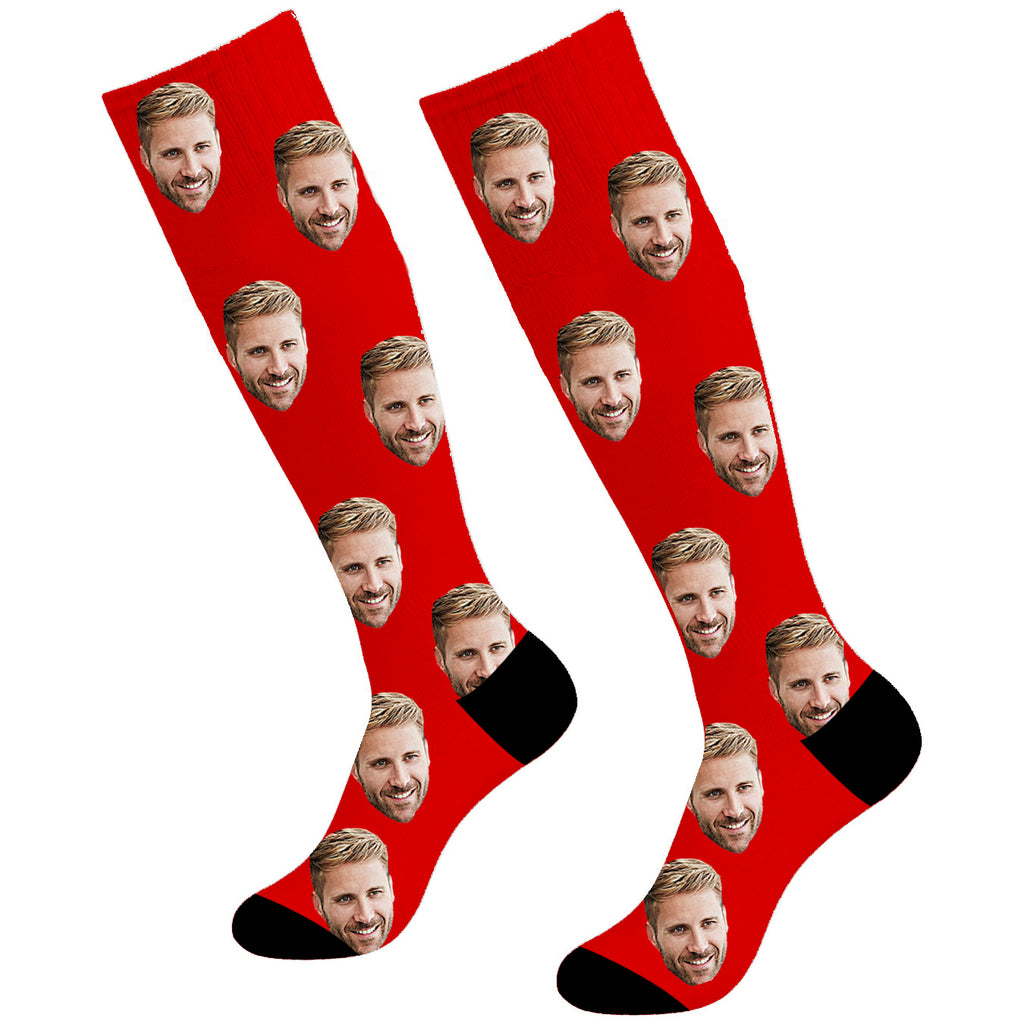 Custom Soceer Face Socks Photo Knee High - Make Custom Gifts