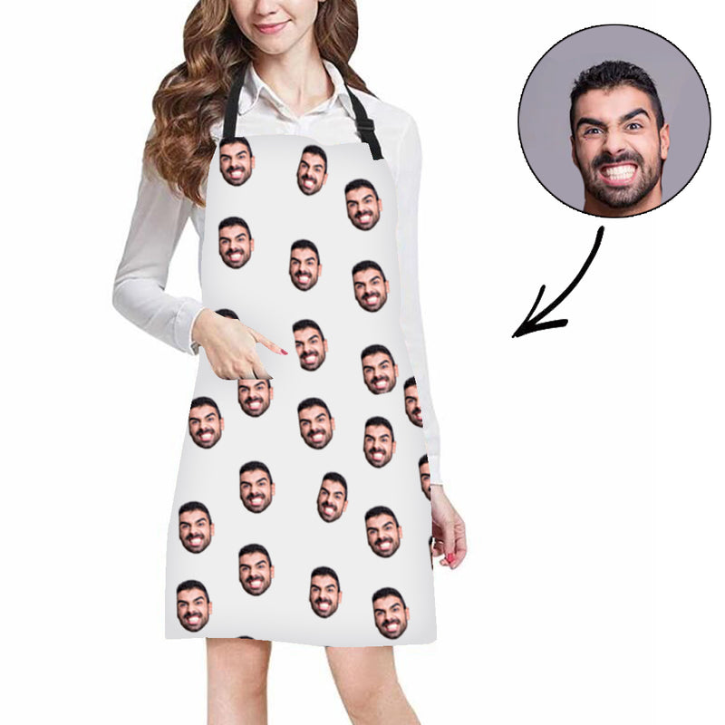 Custom Photo Apron Mash Face Apron