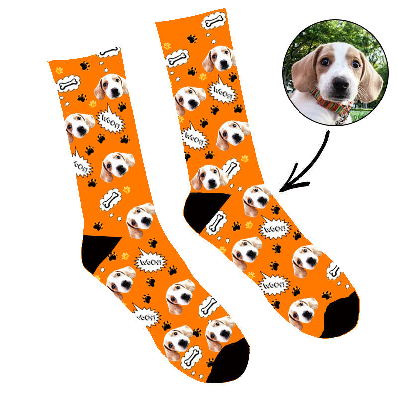 Custom Face Socks Your Dog Woof Socks - Make Custom Gifts