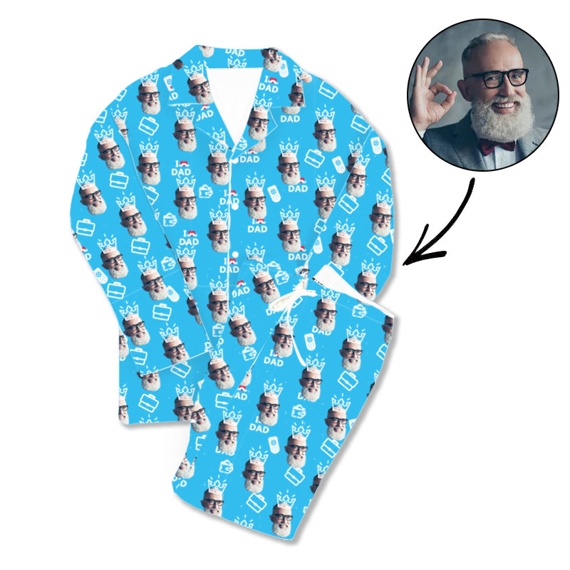 Father's Day Custom Photo Pajamas I Love Dad