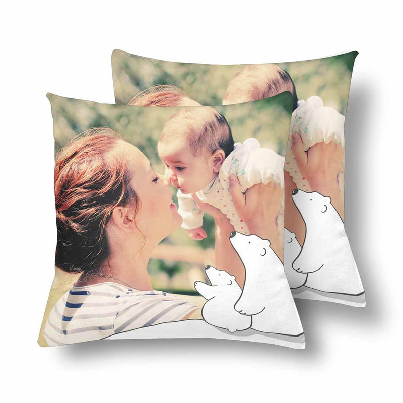 Custom Cat Mom Photo Pillow
