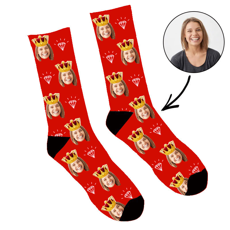 Custom Queen Face Socks - Make Custom Gifts