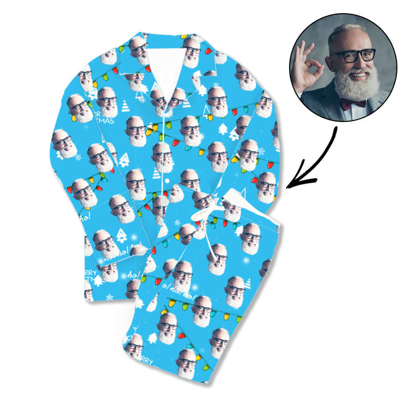 Father's Day Custom Photo Pajamas Merry Christmas