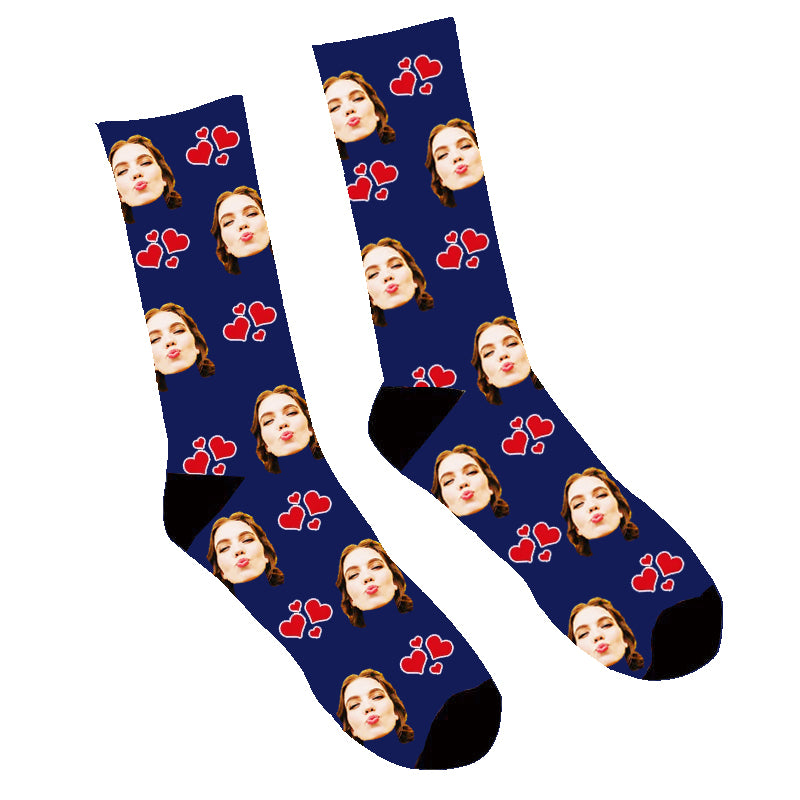 Custom My Valentine Face Socks - Make Custom Gifts