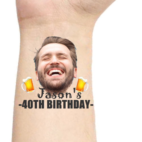Custom Tattoos Beer Party Face Tattoos - Make Custom Gifts
