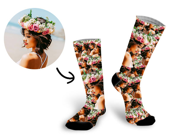 Custom All My Loved One's Face Socks Photo Socks - Make Custom Gifts