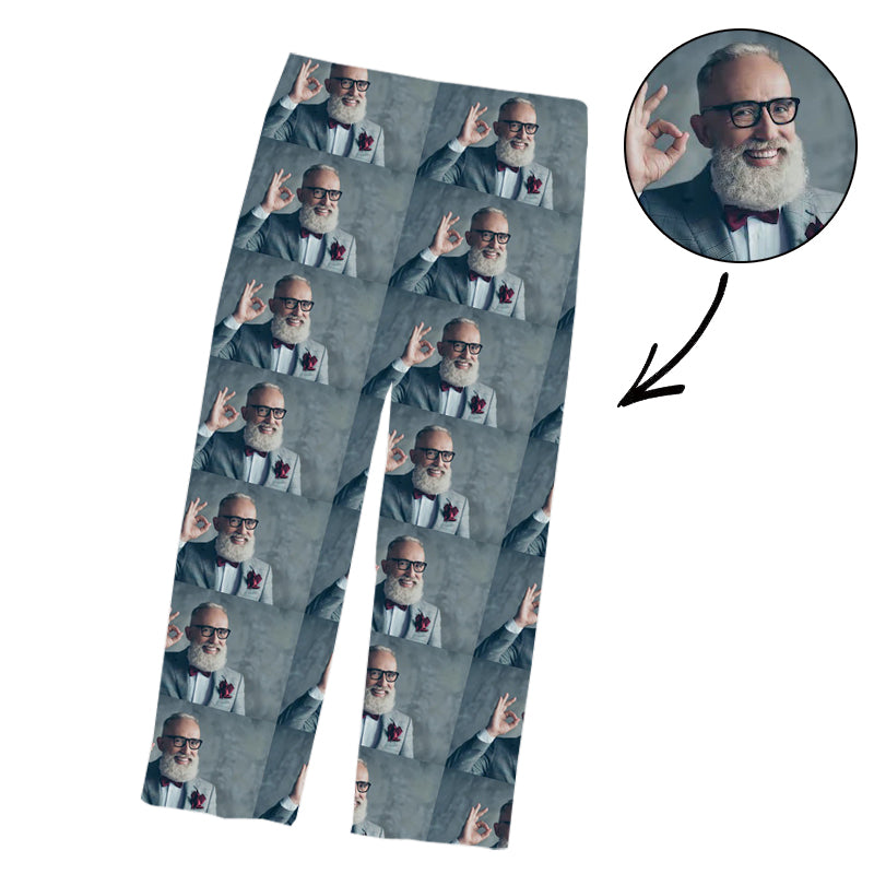 Father's Day Custom Pajamas Pants With Whole Photo