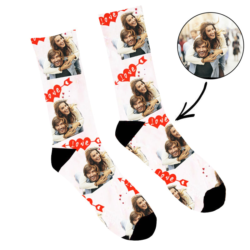 Custom Face Socks Love Memory - Make Custom Gifts