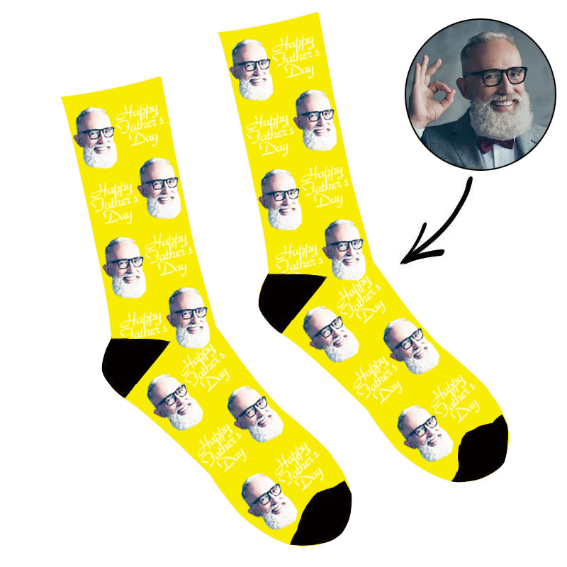 Father's Day Custom Photo Face Socks Happy Fathday¡®s Day
