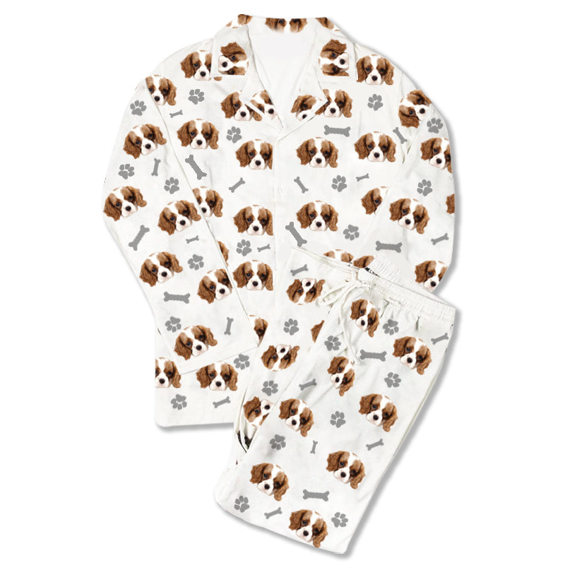 Custom Photo Pajamas Dog Footprint - Make Custom Gifts