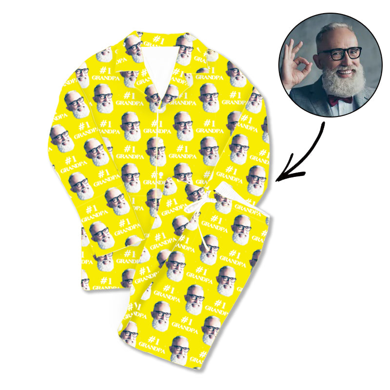 Father's Day Custom Photo Pajamas #1 Grandpa
