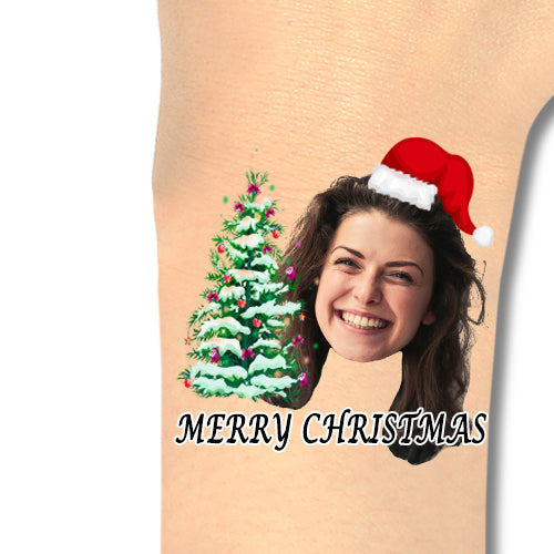 Custom Tattoos Merry Christmas Face Tattoos - Make Custom Gifts