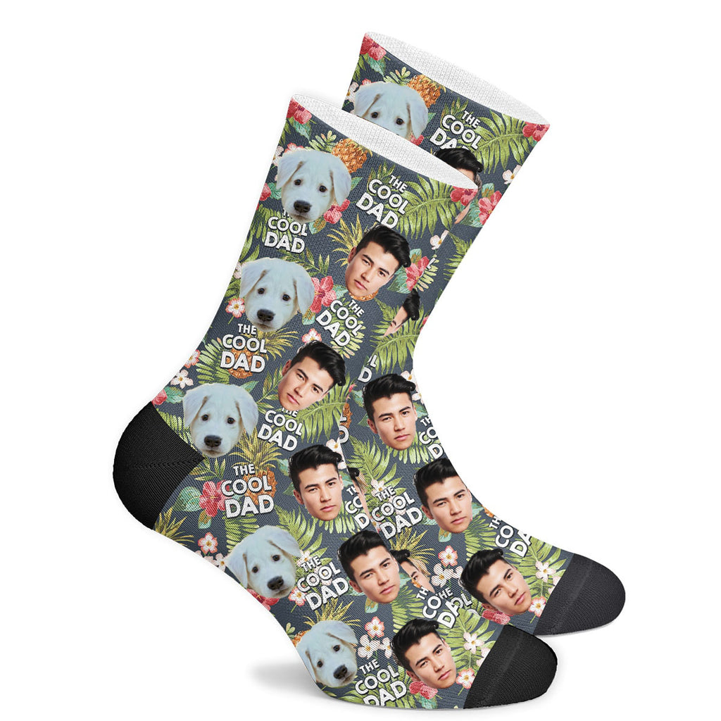 Custom Cool Dad Face Socks Photo Socks - Make Custom Gifts