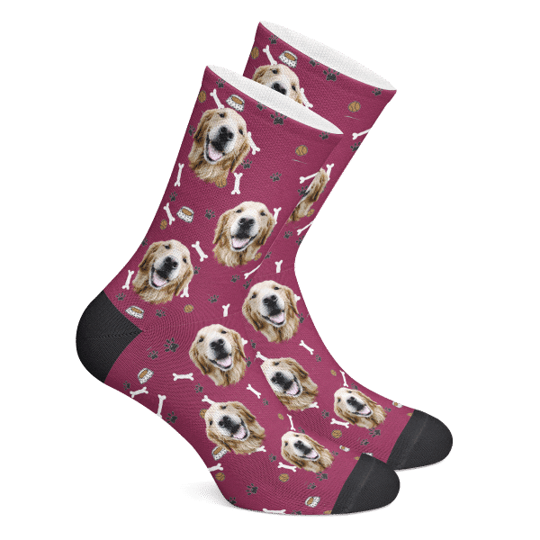 Dog Face Socks Custom Bone Socks - Make Custom Gifts