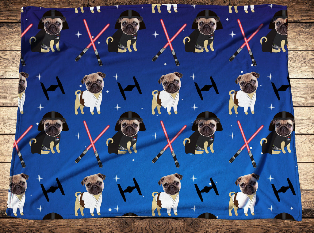Custom Cute Dog Face Fleece Photo Blanket - Make Custom Gifts