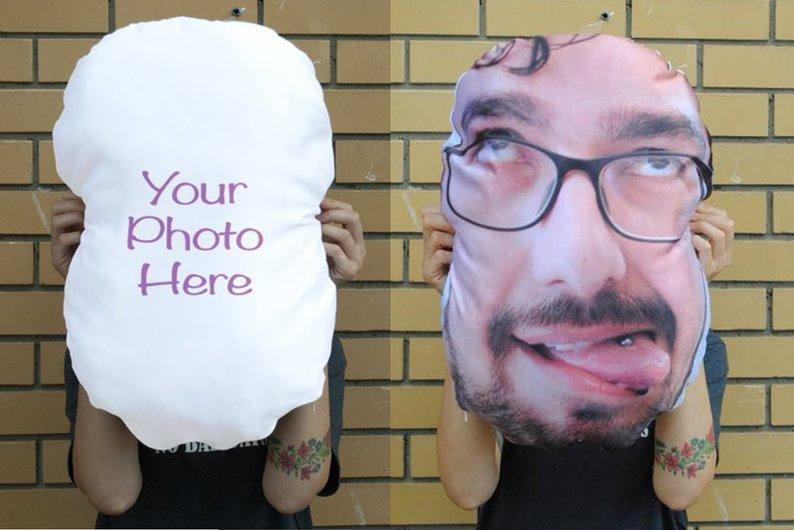 Custom Funny Dad  Face Pillow - Make Custom Gifts