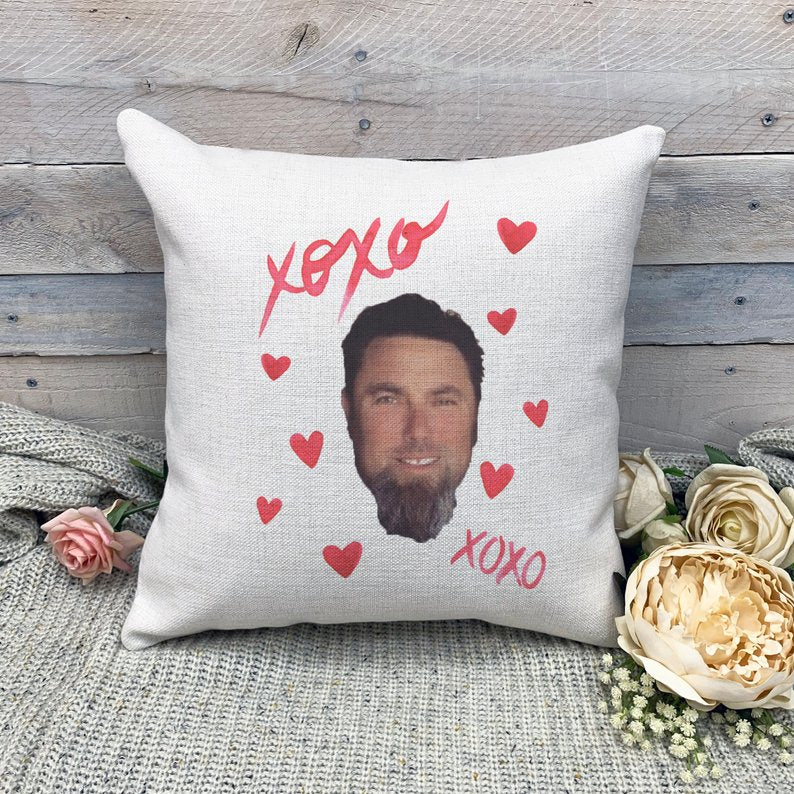 Custom XOXO Dad Face Photo Pillow-Father's Day Gift - Make Custom Gifts