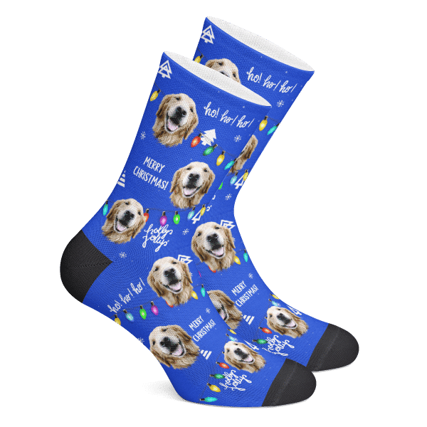 Custom Socks Merry Christmas Photo Socks - Make Custom Gifts