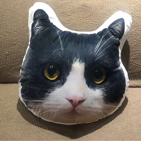Custom Funny Cat Face Pillow - Make Custom Gifts