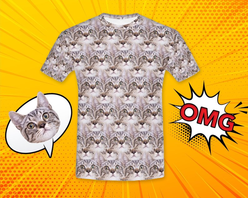 Custom Cat Face Shirt - Make Custom Gifts