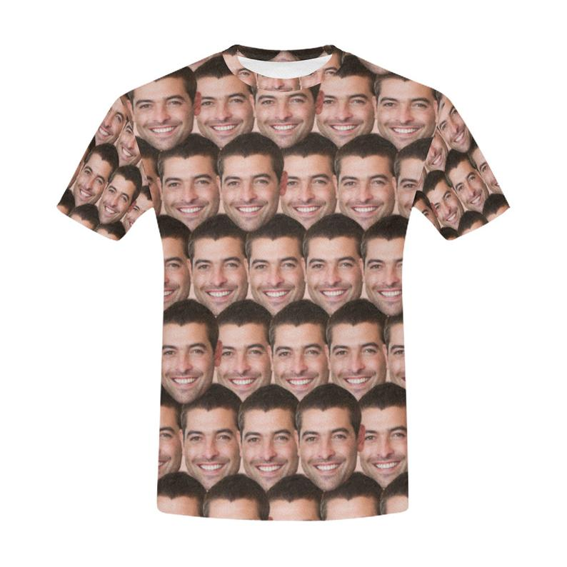 Custom Cute Pizza Face Shirt