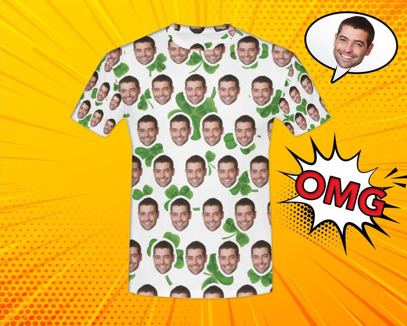 Custom St Patrick Face Shirt - Make Custom Gifts