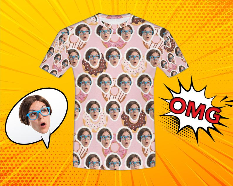 Custom Cute Donut Face Shirt - Make Custom Gifts