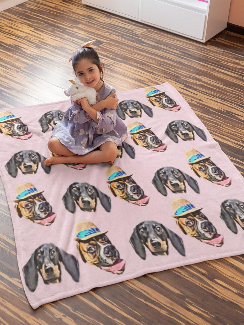 Custom Photo Blanket Pink - Make Custom Gifts
