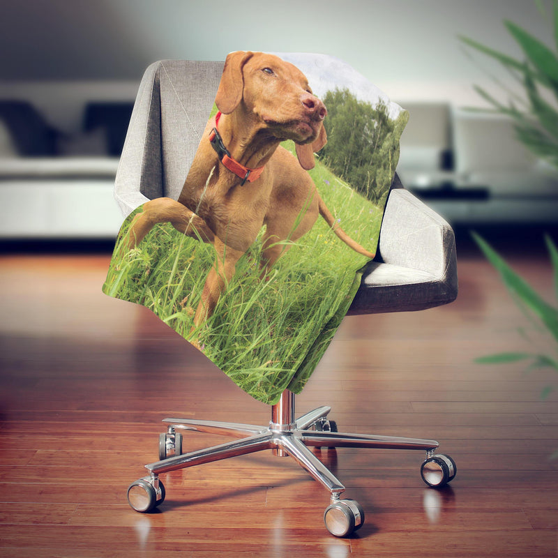 Custom My Best Friend Dog Face Fleece Photo Blanket - Make Custom Gifts