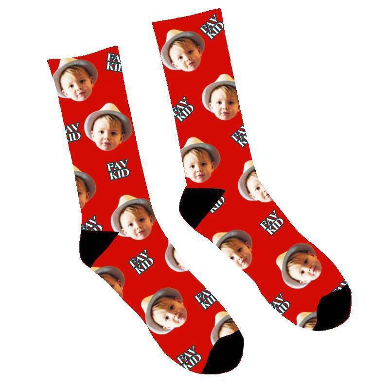 Custom Fav Kid Face Socks - Make Custom Gifts