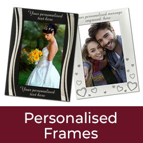 Personalised Silver Plated Frames