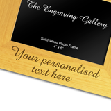 Personalised Message - Personalised Wood Photo Frame - engraving-gallery.com
