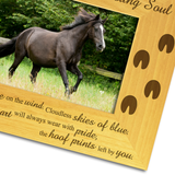 Horse Memorial, Bereavement - Personalised Wood Photo Frame - engraving-gallery.com