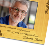 Those we Love, Bereavement - Personalised Wood Photo Frame - engraving-gallery.com