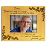 Those we love, bereavement, memorial loss of sympathy gift - Personalised Wood Photo Frame - engraving-gallery.com