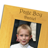 Page Boy Church - Personalised Wood Photo Frame - engraving-gallery.com