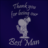 Thank You for Being Our Best Man  - Engraved Tankard Beer Pint Glass - engraving-gallery.com