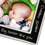 Me and My Big Sister - Silver Plated, Black and Silver Photo Frame - engraving-gallery.com