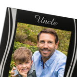 Uncle - Silver Plated, Black and Silver Photo Frame - engraving-gallery.com