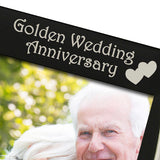 Golden Wedding Anniversary - Silver Plated, Black and Silver Photo Frame - engraving-gallery.com