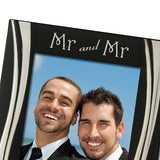 Mr and Mr - Silver Plated, Black and Silver Photo Frame, Available in Two Sizes - engraving-gallery.com